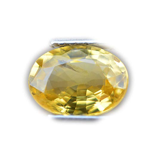 Lovemom Certified GLC 1.36ct Natural Oval Unheated Yellow Sapphire Sri-Lanka ()