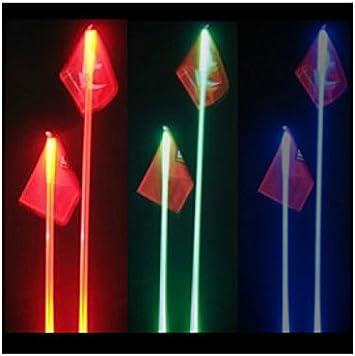 """Off-Road UTV ATV Sand Rail SafeGlo LED Lighted Whips 6 FT /""""BLUE/"""" Whip /& Flag"""