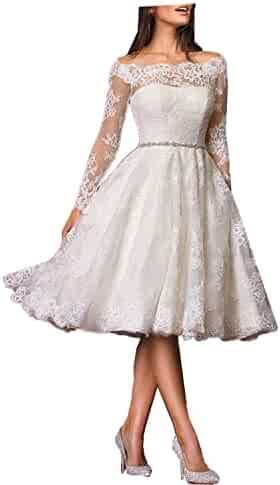7dc0bc74f PromQueen Women's Lace Vintage Wedding Dress Beaded A Line Beach Wedding  Dresses