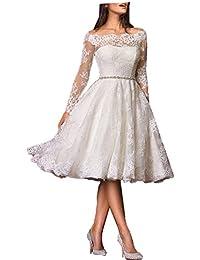 Off Shoulder Short Wedding Dress