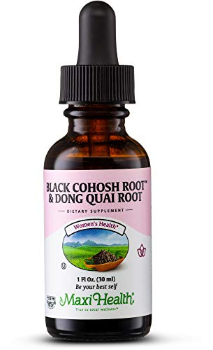 Dong Quai Black Cohosh - Maxi Health Black Cohosh Root and Dong Quai Root Extract - Women's Formula - 1 Ounce Bottle - Kosher