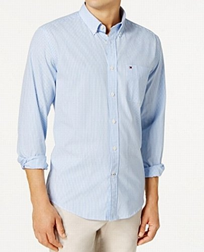 Tommy Hilfiger Mens Classic Fit Buttondown Shirt (2XL, Collection Blue Stripe) - Tommy Hilfiger Collection