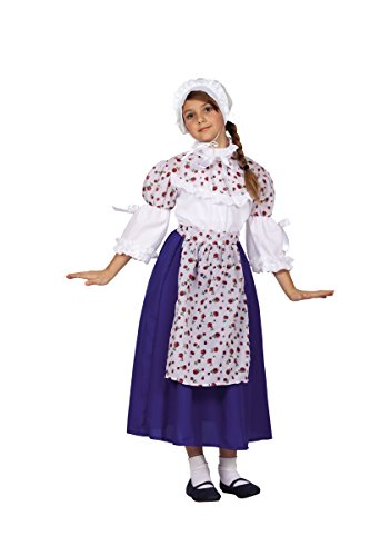 [RG Costumes Colonial Beauty Costume, Blue/White/Yellow, Large] (China Costume For Girls)
