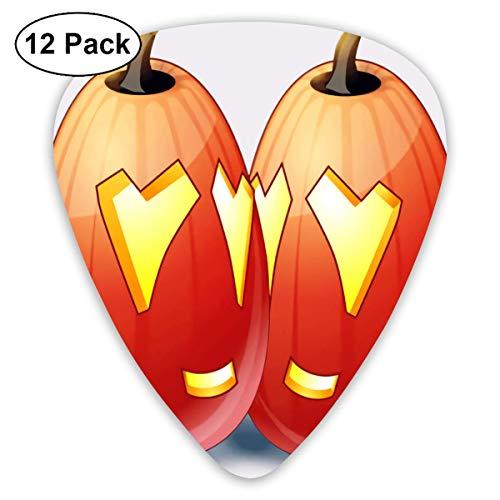 Anticso Custom Guitar Picks, Cute Halloween Intimate Tall Pumpkin Jack Guitar Pick,Jewelry Gift For Guitar Lover,12 -