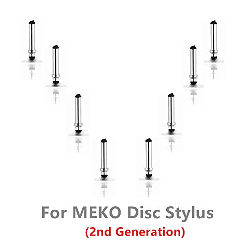 MEKO High Precision Replacement Disc Tip For MEKO New Version Disc Stylus, 8-Pack