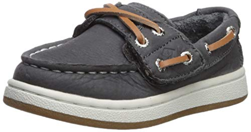 SPERRY Boys Cup II Boat Jr Shoe, Grey, 8 W US Toddler