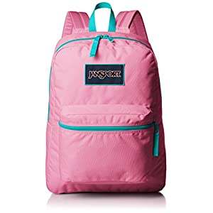 Jansport Overexposed Backpack - lipstick kiss/spanish teal, one size