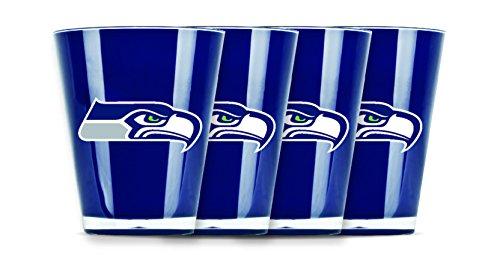 Seahawks Wine Glasses (NFL Seattle Seahawks Insulated Acrylic Shot Glass Set of)