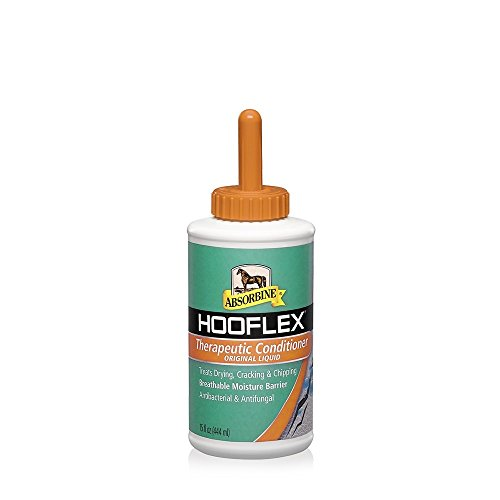 HOOFLEX Horse Pony 15 oz Hoof Dressing Therapeutic Conditioner Anti-fungal Moisturizer with Applicator