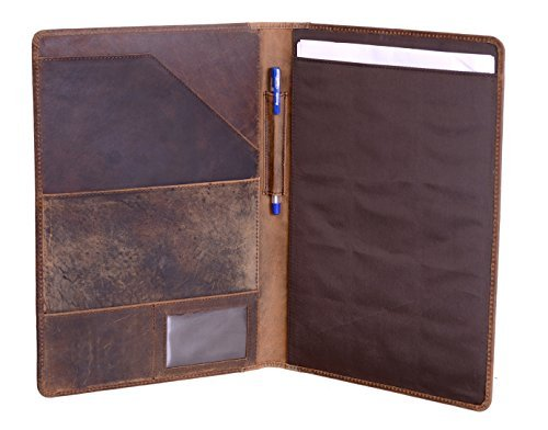 (KomalC Luxury Leather Portfolio, Personal Organizer, Luxury Leather Padfolio, Leather Folder, Business Portfolio)