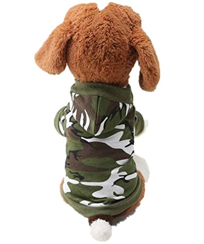 Pet Dogs Clothes Dog T Shirt Dog Vest Camouflage Style Clothing Small Dogs Clothes Cotton Dog Costume (Army Green, M)