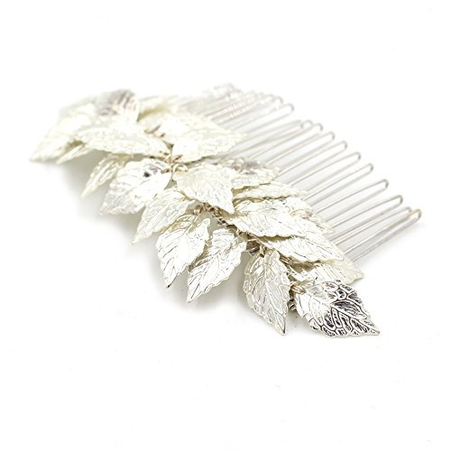Athena Goddess Costume Ideas (Greek Goddess Silver Leaf Hair Comb - Bridal Wedding Hair Combs Bride and Bridesmaid Hair Accessories)