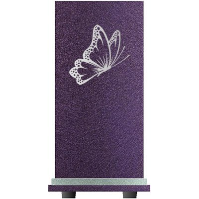 PERSONALIZED Engraved Butterfly Cremation Urn for Human Ashes-Made in America-Handcrafted in the USA by Amaranthine Urns (Adult Funeral Urn up to 200 lbs living weight) Eaton SE- (Purple Velvet) by Amaranthine Urn Company (Image #4)