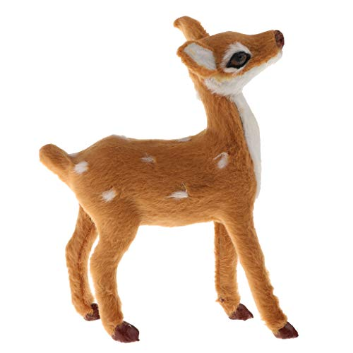 Flameer Set of 1 Simulated Forest Animal Reindeer Toy with Realistic Furry for Boys Girls Christmas Day Birthday Gifts
