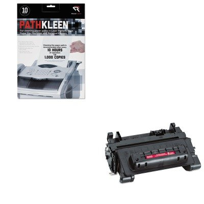 64a Compatible Micr Toner (KITREARR1237TRS0281300001 - Value Kit - Troy 0281300001 64A Compatible MICR Toner Secure (TRS0281300001) and Read Right PathKleen Printer Roller Cleaner Sheets (REARR1237))
