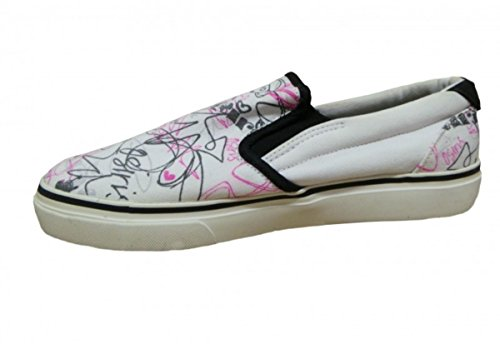 Osiris Skateboard Shoes Slip On Scoop Girls White/ Pink /Black RGVJDv7t