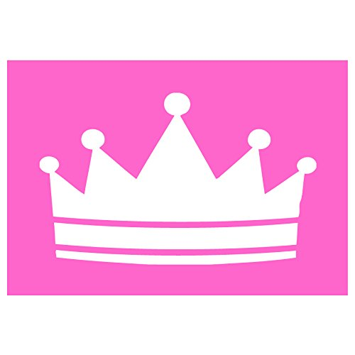 Auto Vynamics - STENCIL-PRINCESS-CROWN - Classic Princess Crown Individual Stencil from Detailed Fairy Tale Princess Large Stencil Set! - 10-by-7-inch Sheet - Single (Boy Fairy Tale Graffiti)