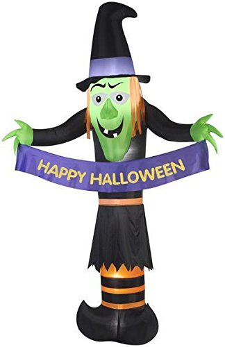 Gemmy 12' Airblown Giant Witch Halloween Inflatable -