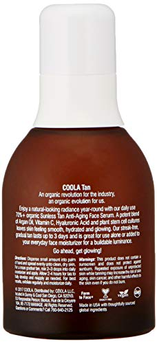 41VDLDKKyDL - COOLA Organic Sunless Tan Anti-Aging Face Serum | Antioxidant Enriched | Gradual Tan | Transfer-Free | Fast Drying | Pina Colada