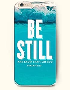 iPhone Case,OOFIT iPhone 6 (4.7) Hard Case **NEW** Case with the Design of Be still and know that I am God Psalm 46:10 - Case for Apple iPhone iPhone 6 (4.7) (2014) Verizon, AT&T Sprint, T-mobile