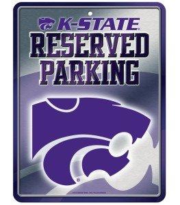 NCAA Kansas State Wildcats Hi-Res Metal Parking (Wildcats Metal Parking Sign)