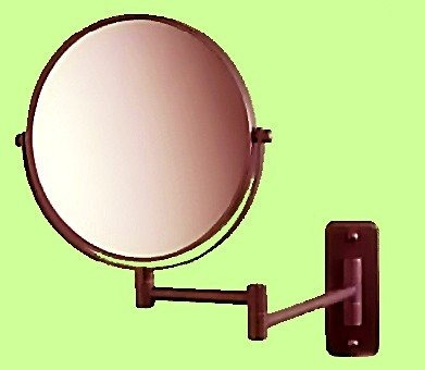 SeeAll 8'' Makeup Vanity Mirror, Oil-Rubbed Bronze, Dual Arm, Wall Mount, 7X Optics