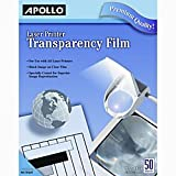 Apollo(R) Laser Printer Transparency Film, 8 1/2in. x 11in., Box Of 50