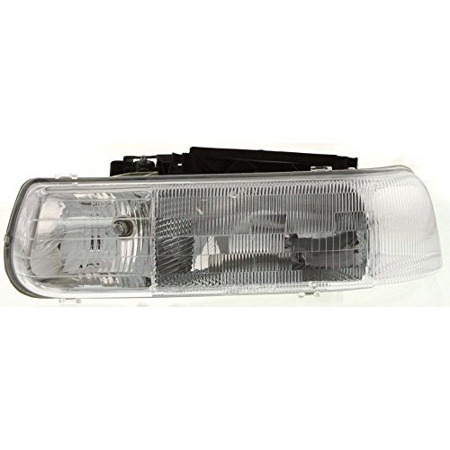 Headlight for SILVERADO P/U 99-02 TAHOE 00-06 LH Composite Assembly Halogen w/Bulb(s) Driver Side ()