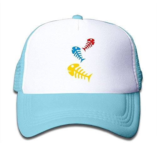Mesh Baseball Cap Sun Hats Kids Cap Dead Fishes Bone Adjustable Boy Girls ()