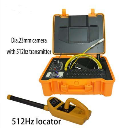 420TVL waterproof underwater pipe video inspection camera 30m used sewer camera for sale and 512hz transmitter locator