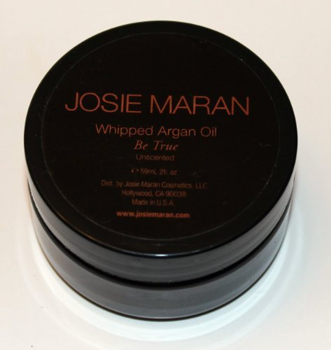 Josie Maran Whipped Argan Oil Body Butter - Immediate, Lightweight, and Long-Lasting Nourishment to Soften and Hydrate Skin (59 ml/2.0 oz, Unscented) (Josie Moran Face Oil)