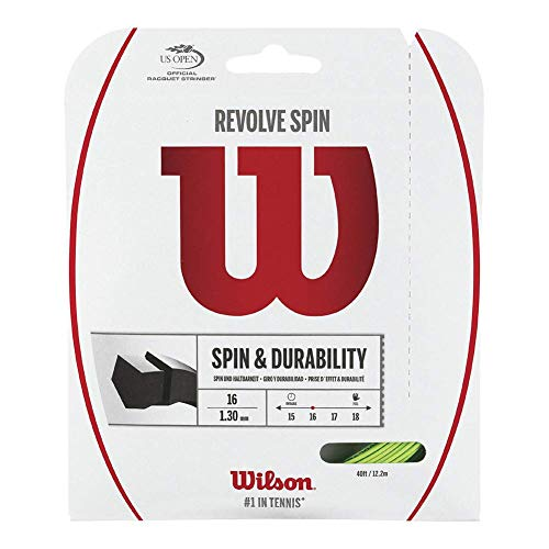 Wilson Revolve Spin (17-1.25mm) Tennis String Set (Green) ()
