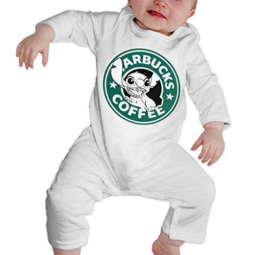 Baby Clothes, Lilo and Stitch Starbucks Coffee Logo Organic Baby Toddler Bodysuit Baby Clothes -