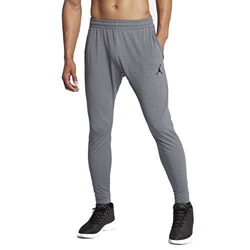 Jordan Nike Mens Tech Sphere Training Sweatpants Carbon Heather/Black 861553-091 Size X-Large