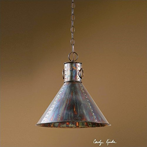 Uttermost 21923 Levone Rustic 1-Light Oxidized Bronze Pendant Lighting (Ck Generic 1 Light)