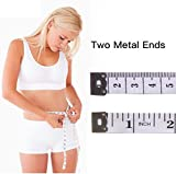 Dual Sided Body Measuring Ruler Sewing Cloth Tailor Tape Soft Tape for Family Measure Chest/Waist Circumference, White 60inch/150cm