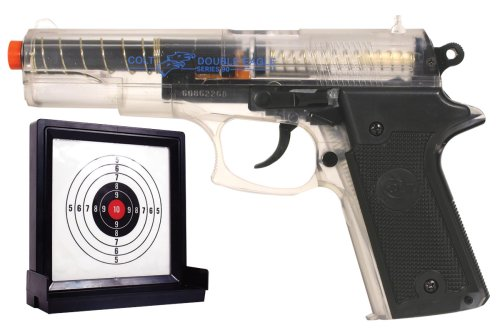 Soft Air Colt Double Eagle Spring Powered Airsoft Pistol with Target (Clear)
