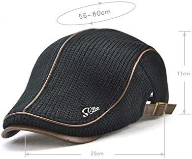 野球帽 キャスケット メンズ ハット ゴルフ 綿 調整可能 日よけ 防風 お洒落 ハンチング LWQJP (Color : ブラック, Size : One Size)