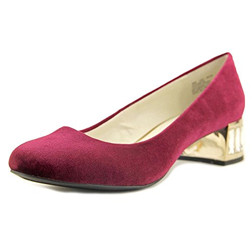 Anne Klein Womens Haedyn Closed Toe Classic Pumps, Wine Fabric, Size 7.5
