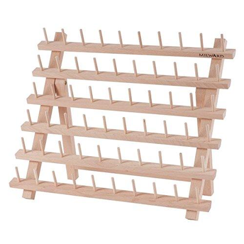 Milward Wooden 60 Spool Holder Rack by Milward