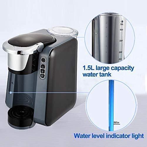 Machine à café, machine à café K-Cup Brewer, Machine à café tasse unique, Capsule Machine à café, et entièrement automatique Home Business Cafetière, 1420W KNDTA