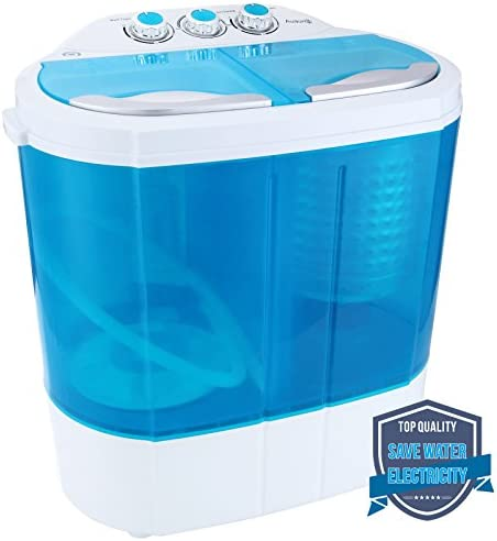 YHG Mini Portable Compact 8-9lbs Capacity Electric Washer Washing Machine Spin Dryer Laundry - Blue