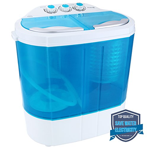 KUPPET Mini Portable Compact 8-9lbs Capacity Electric Washer Washing Machine Spin Dryer Laundry – Blue