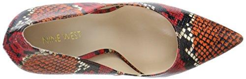 Bomba vestido sintético Nine West Tatiana Red Reptile Pattern