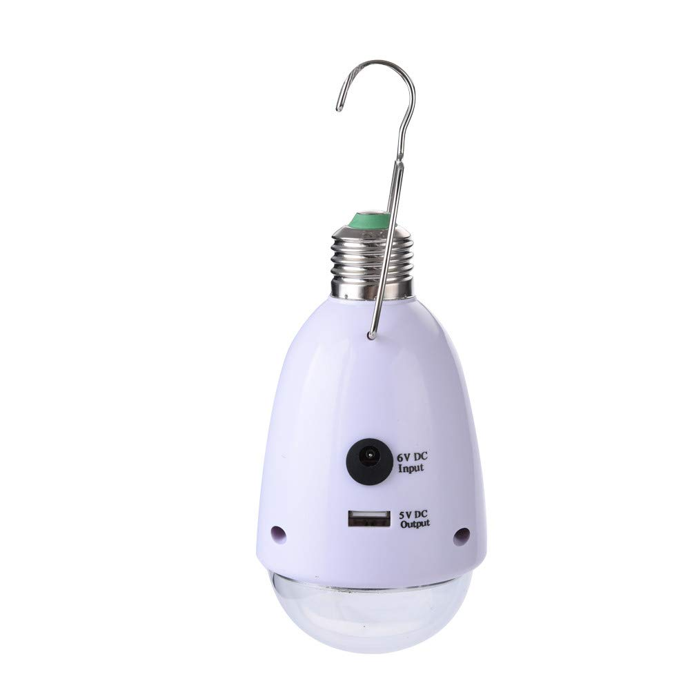 Tronet Portable LED Multi-Function Solar Light Hook, Remote Control Dimmable E27 [Ship from USA Directly]