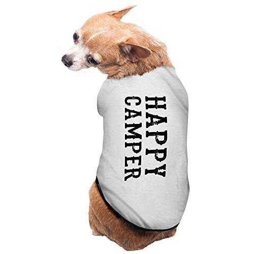 [Jade Unique Happy Camper Poster Pet Dog Pets Costumes Gray Size L] (Happy Campers Costume)
