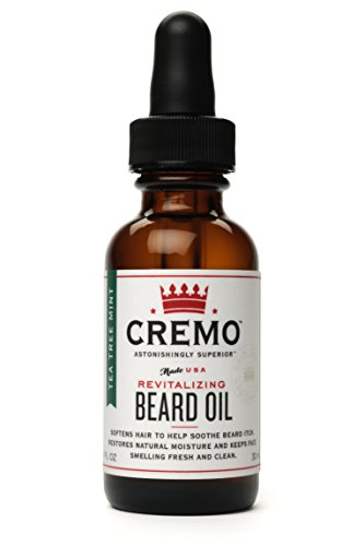 Cremo Beard Oil, Mint Blend, 1 Ounce- Restores Moisture, Softens and Reduces Beard Itch for All Lengths of Facial Hair (Tea Tree Beard Oil)