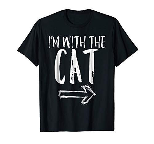 I'm With The Cat Halloween Last Minute Costume Shirt