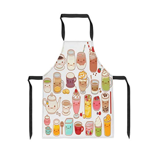 Pinbeam Apron Collection of Lovely Hot and Cold Drink Cute with Adjustable Neck for Cooking Baking Garden from Pinbeam