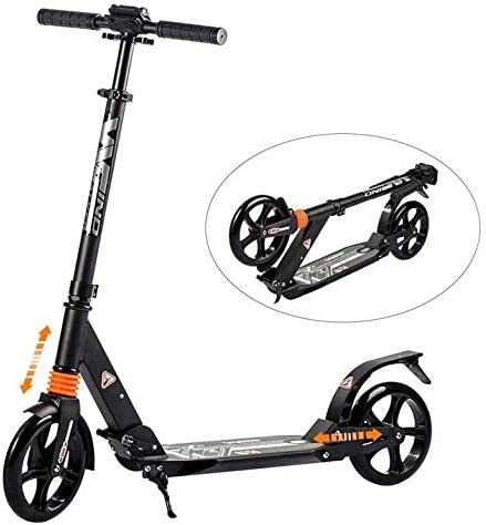 WINDWALKER Scooter for Adults Teens Foldable 3 Levels Adjustable Height Dual Suspension with Big Wheels Smooth /& Fast Rear Fender Brake Aluminum Alloy Kick Scooter for Kids